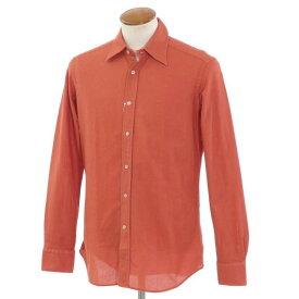 【新品】バグッタ Bagutta メッシュコットン カジュアルシャツ オレンジ【サイズ39】【ORG】【S/S/A/W】【状態ランクN】【メンズ】【10602-955799】[2110BPD]