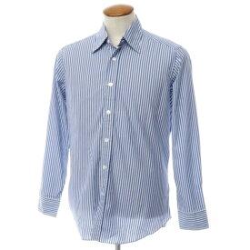 【新品】バグッタ Bagutta ストライプ柄 コットン カジュアルシャツ ブルー×ホワイト【サイズM】【BLU】【S/S/A/W】【状態ランクN】【メンズ】【10602-955766】