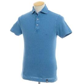 【中古】ドルモア Drumohr コットン鹿の子 半袖ポロシャツ ブルー【サイズS】【BLU】【S/S】【状態ランクC】【メンズ】【10703-955641】[2105BPD]