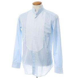 【新品】バグッタ Bagutta コットン スタンドカラーブザムシャツ ライトブルー【サイズ40】【BLU】【S/S/A/W】【状態ランクN】【メンズ】【10602-955752】