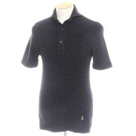 【中古】ギローバー GUY ROVER コットンパイル 半袖ポロシャツ ブラック【サイズXS】【BLK】【S/S】【状態ランクB】【メンズ】【10703-955626】[2109BPD]