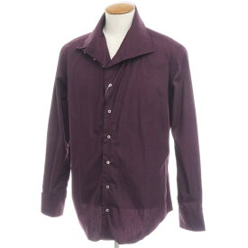 【新品】バグッタ Bagutta コットン ハイネックシャツ ダークパープル【サイズM】【PUP】【S/S/A/W】【状態ランクN】【メンズ】【10602-955731】