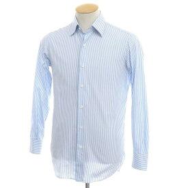 【中古】スティレ ラティーノ STILE LATINO コットン ストライプ ドレスシャツ ブルー×ホワイト【サイズ37】【BLU】【S/S/A/W】【状態ランクC】【メンズ】【10601-955706】