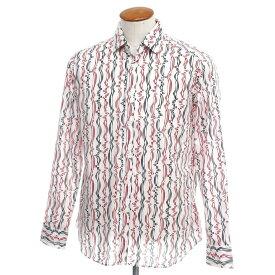 【新品】バグッタ Bagutta カジュアルシャツ ホワイト×ブラック×レッド【サイズ40】【WHT】【S/S/A/W】【状態ランクN】【メンズ】【10602-955696】[2110BPD]
