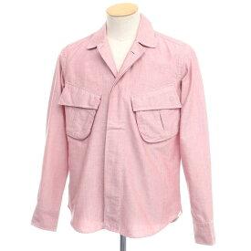 【新品】バグッタ Bagutta THE SHACKET オックスフォードコットン シャツジャケット ピンク【サイズ37】【PNK】【S/S/A/W】【状態ランクN】【メンズ】【10602-955687】