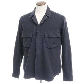【新品】バグッタ Bagutta THE SHACKET ウォッシュコットン シャツジャケット ブラック【サイズ42】【BLK】【S/S/A/W】【状態ランクN】【メンズ】【10602-955689】