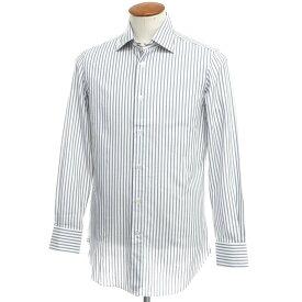 【新品】ヴィンツェンツォ ディ ルジエッロ Vincenzo di Ruggiero ストライプ コットン ドレスシャツ ホワイト×ブルー【サイズ39】【BLU】【S/S/A/W】【状態ランクN】【メンズ】【10601-955682】[2110BPD]