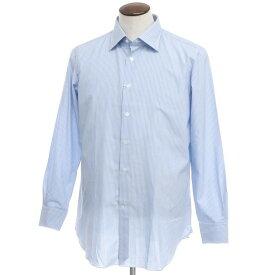 【新品アウトレット】ヴィンツェンツォ ディ ルジエッロ Vincenzo di Ruggiero ストライプ コットン ドレスシャツ ブルー×ホワイト【サイズ44】【BLU】【S/S/A/W】【状態ランクN-】【メンズ】【10601-955680】[2110BPD]