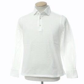 【中古】フィナモレ Finamore コットン 長袖ポロシャツ ホワイト【サイズS】【WHT】【S/S/A/W】【状態ランクB】【メンズ】【10703-955673】[2109APD]