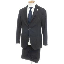【中古】ラルディーニ LARDINI ウール 3つボタンスーツ ブラック【サイズ46 drop7】【BLK】【S/S】【状態ランクB】【メンズ】【10402-955674】