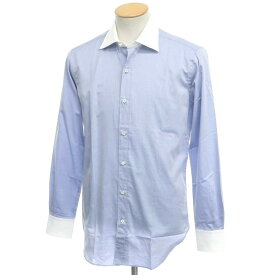 【新品アウトレット】オリアン ORIAN コットン ワイドカラー クレリックシャツ ライトブルー×ホワイト【サイズ38】【BLU】【S/S/A/W】【状態ランクN-】【メンズ】【10601-955673】