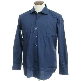 【新品アウトレット】オリアン ORIAN コットン ワイドカラーシャツ ネイビーブルー【サイズ42】【NVY】【S/S/A/W】【状態ランクN-】【メンズ】【10602-955673】
