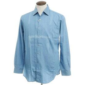 【新品アウトレット】オリアン ORIAN インディゴ染 コットン セミワイドカラー シャツ ブルー【サイズ42】【BLU】【S/S/A/W】【状態ランクN-】【メンズ】【10602-955672】
