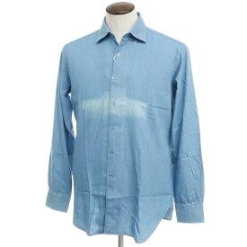 【新品アウトレット】オリアン ORIAN インディゴ染 コットン セミワイドカラー シャツ ブルー【サイズ42】【BLU】【S/S/A/W】【状態ランクN-】【メンズ】【10602-955673】
