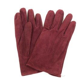 【中古】メローラ MEROLA レザー スエード カシミア グローブ 手袋 ワインレッド【サイズ7.5】【RED】【A/W】【状態ランクA】【メンズ】【19908-955668】