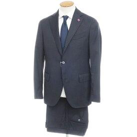 【中古】ラルディーニ LARDINI ストライプ ウール 3B スーツ ダークネイビー【サイズ48】【NVY】【S/S】【状態ランクA】【メンズ】【10402-955668】[2109APD]