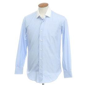 【新品】バグッタ Bagutta コットン セミワイドカラー クレリックシャツ ブルー×ホワイト【サイズ39】【BLU】【S/S/A/W】【状態ランクN】【メンズ】【10602-955662】