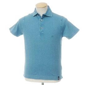 【中古】ドルモア Drumohr コットン 鹿の子 半袖 ポロシャツ ブルー【サイズS】【BLU】【S/S】【状態ランクC】【メンズ】【10703-955665】[2109APD]