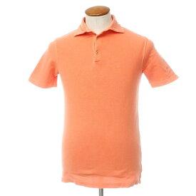 【中古】クルチアーニ Cruciani コットン 鹿の子 半袖 ポロシャツ オレンジ【サイズ46】【ORG】【S/S】【状態ランクB】【メンズ】【10703-955663】[2109APD]
