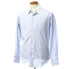 【新品アウトレット】バグッタ Bagutta コットン ストライプ タブカラー クレリックシャツ ブルー×レッド【サイズ39】【BLU】【S/S/A/W】【状態ランクN-】【メンズ】【10602-955658】