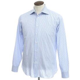 【中古】ボリエッロ BORRIELLO コットン ストライプ ワイドカラー ドレスシャツ ブルー×ホワイト【サイズ41】【BLU】【S/S/A/W】【状態ランクB】【メンズ】【10601-955657】[2109APD]