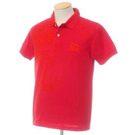 【中古】バーバリーロンドン コットン鹿の子 半袖ポロシャツ レッド【サイズS】【RED】【S/S】【状態ランクB】【メンズ】【10703-955653】[2109APD]