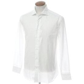 【新品】ボリエッロ BORRIELLO コットン ワイドカラー ドレスシャツ ホワイト【サイズ40】【WHT】【S/S/A/W】【状態ランクN】【メンズ】【10601-955622】[2109APD]