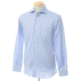 【新品】ボリエッロ BORRIELLO コットン ワイドカラー ドレスシャツ ブルー【サイズ38】【BLU】【S/S/A/W】【状態ランクN】【メンズ】【10601-955622】[2109APD]