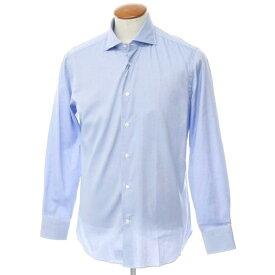 【新品】ボリエッロ BORRIELLO コットン ワイドカラー ドレスシャツ ブルー【サイズ40】【BLU】【S/S/A/W】【状態ランクN】【メンズ】【10601-955622】[2109APD]