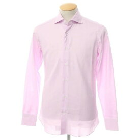 【新品】ボリエッロ BORRIELLO コットン ワイドカラー ドレスシャツ ライトオーキッドピンク【サイズ37】【PNK】【S/S/A/W】【状態ランクN】【メンズ】【10601-955622】[2109APD]