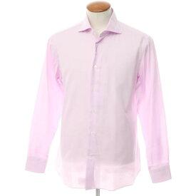 【新品アウトレット】ボリエッロ BORRIELLO コットン ワイドカラー ドレスシャツ ライトオーキッドピンク【サイズ40】【PNK】【S/S/A/W】【状態ランクN-】【メンズ】【10601-955622】[2109APD]