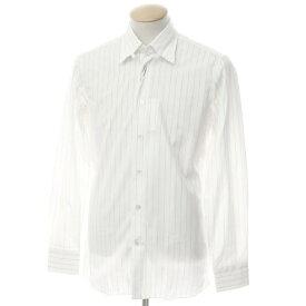 【新品】ボリエッロ BORRIELLO コットン ストライプ タブカラー ドレスシャツ ホワイト×ネイビー【サイズ38】【WHT】【S/S/A/W】【状態ランクN】【メンズ】【10601-955622】[2109APD]