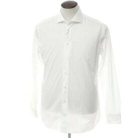 【新品】ボリエッロ BORRIELLO コットン ワイドカラー ドレスシャツ ホワイト【サイズ42】【WHT】【S/S/A/W】【状態ランクN】【メンズ】【10601-955622】[2109APD]