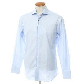 【新品】ボリエッロ BORRIELLO コットン ワイドカラー ドレスシャツ ライトブルー【サイズ39】【BLU】【S/S/A/W】【状態ランクN】【メンズ】【10601-955621】[2109APD]
