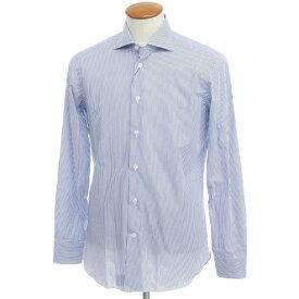 【新品】ボリエッロ BORRIELLO コットン ストライプ ドレスシャツ ダークブルー×ホワイト【サイズ39】【BLU】【S/S】【状態ランクN】【メンズ】【10601-955617】[2109APD]