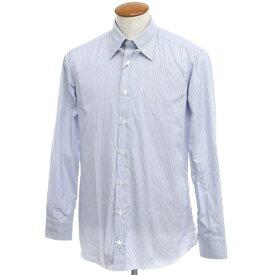 【新品】ボリエッロ BORRIELLO コットン ストライプ タブカラー ドレスシャツ ホワイト×ブルー【サイズ40】【BLU】【S/S/A/W】【状態ランクN】【メンズ】【10601-955617】[2109APD]