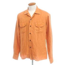 【新品アウトレット】ボリエッロ BORRIELLO コットンポリエステル系 オープンカラーシャツ オレンジ【サイズM】【ORG】【S/S】【状態ランクN-】【メンズ】【10602-955613】[2109APD]