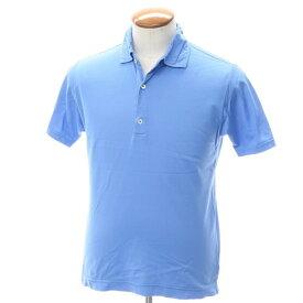 【中古】ドルモア Drumohr コットン鹿の子 半袖ポロシャツ ブルー【サイズM】【BLU】【S/S】【状態ランクC】【メンズ】【10703-955609】[2109APD]