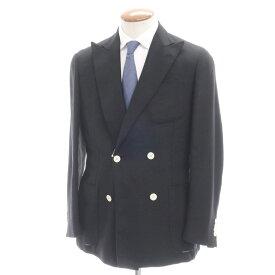 【中古】ラルディーニ LARDINI ウール 4Bダブルブレストジャケット ブラック【サイズ48】【BLK】【A/W】【状態ランクD】【メンズ】【10101-955596】[2110APD]