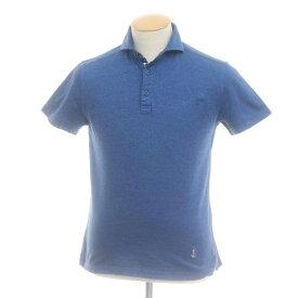 【中古】ギローバー GUY ROVER コットン鹿の子 半袖ポロシャツ ブルー【サイズS】【BLU】【S/S】【状態ランクC】【メンズ】【10703-955564】