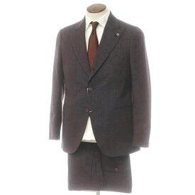 【中古】【未使用】ラルディーニ LARDINI ウール 3つボタンスーツ グレー×レッド【サイズ50】【GRY】【A/W】【状態ランクS】【メンズ】【10402-955560】[2110APD]
