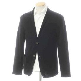 【中古】ドルモア Drumohr コットン 2つボタン ニットジャケット ブラック【サイズ42】【BLK】【S/S】【状態ランクC】【メンズ】【10199-955547】