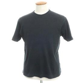 【中古】ザノーネ ZANONE コットン 天竺 半袖 クルーネック Tシャツ ブラック【サイズ46】【BLK】【S/S】【状態ランクC】【メンズ】【10702-955521】