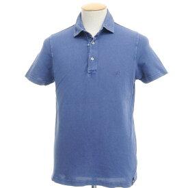 【中古】ドルモア Drumohr コットン 鹿の子 半袖 ポロシャツ ブルー【サイズS】【BLU】【S/S】【状態ランクC】【メンズ】【10703-955521】
