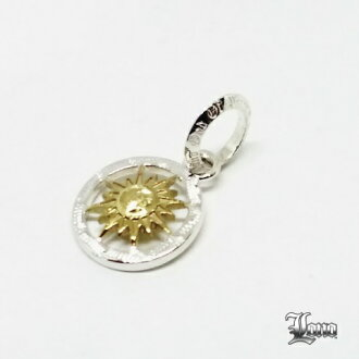 Lono Sun (the sun) coin pendant 2tone