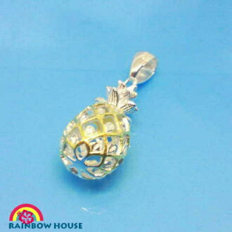 [watermarks pineapple, medium size 2tone] Silver925 Hawaii Anju Elly pendant head