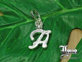 ロノの王冠付きイニシャル [a] LONO Crown Initial [a] ハワイアンジュエリーペンダントヘッド 【送料無料】【楽ギフ_包装】