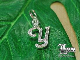ロノの王冠付きイニシャル [y]! LONO Crown Initial [y]ハワイアンジュエリーペンダントヘッド 【送料無料】【楽ギフ_包装】