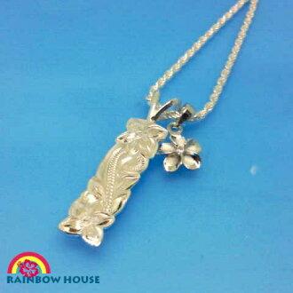 Hawaiian jewelry necklace set of カレキニ BerS and the frangipani