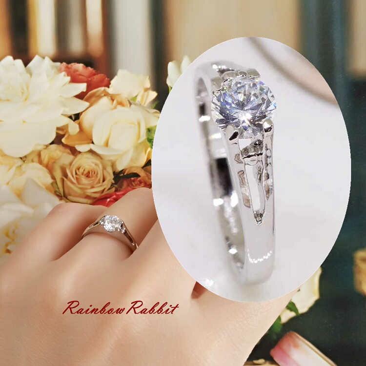 リング 結婚指輪 18K K18 18金 RGP 大きいサイズ 18K K18 プラチナ 一粒 リングyu1029e 普通便 送料無料 母の日 誕生日 記念日